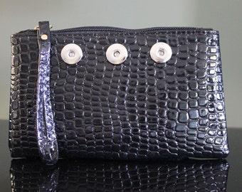 A0002 Black Snap Bag