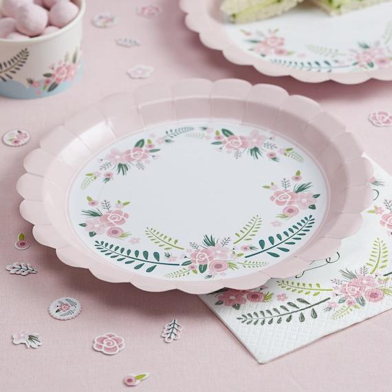 pink flower paper plates . & pink flower paper plates - Manqal.hellenes.co