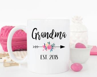 New Grandma Mug, Grandma to be gift, Grandma Mug, Pregnancy Announcement, New Grandma Gift, Grandma to be, Pregnancy Reveal, Baby Shower