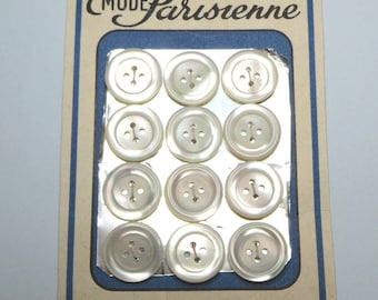 Set of 1.6 cm Pearl buttons (12) - #2024_16
