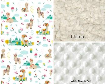 Llama Baby Blanket - Llama Minky Baby Blanket - Llama Blanket - Llama Nursery - Baby Llama - Baby Gift - Llama Gifts - Designer Minky