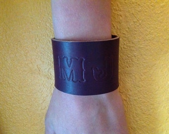 Leather Bracelets with Gold Snaps!
