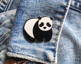 Panda Enamel Pin, Panda Pin Badge, Panda Pin, Panda Badge, Panda Lapel Pin, Panda Gift, Panda Stocking Filler, Panda Accessory, Animal Pin