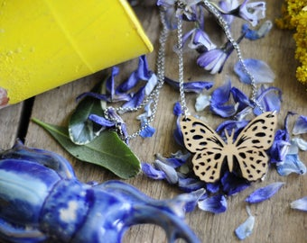 Butterfly Cutout Necklace Chain