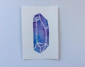Rainbow Crystal Painting, Crystal Artwork, Crystal Painting, Rainbow Crystal, Home Decor, Healing Crystals, Quartz Crystal, Hippie Art, Boho