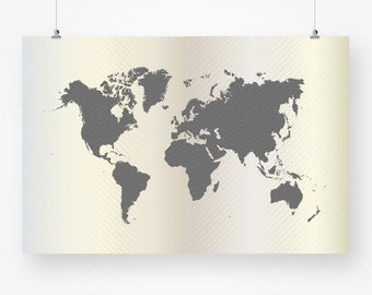 Large colorful world map nursery download world continents large world map download silver grey abstract unique geometric wall art decor poster 24x36 printable digital print pdf instant download jpg gumiabroncs Image collections
