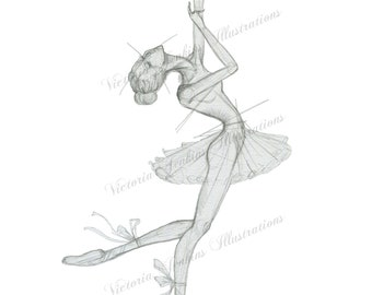 Ballerina Print (illustration print)