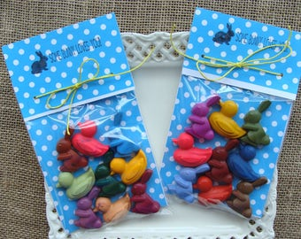 CRAYONS - EASTER Bunny & Ducklings Crayon SET of 9 - Easter Basket Filler