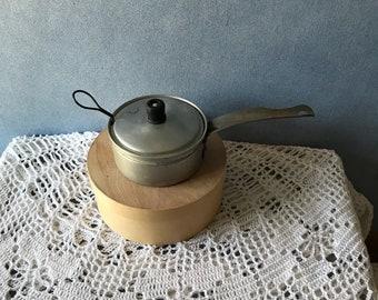 Vintage Cooking Pot, Small Metal Egg Poacher, 3 Piece Set