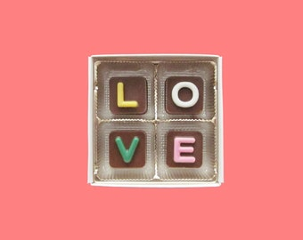 Just Because Gift I Love You for Men Boyfriend Him BF Girlfriend Her Women Gf 4 pc Jelly Bean Chocolate Cube AK Apo International Shipping
