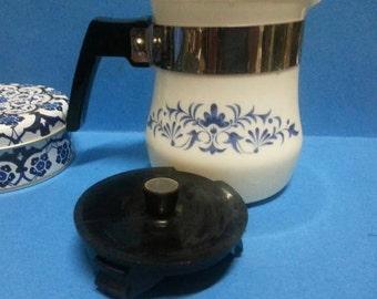 Vintage French Sovirel Milk Glass Tea/ Coffee Pot