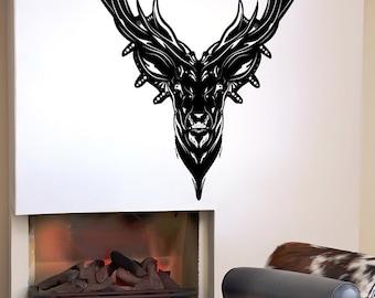 Vinyl Wall Decal Sticker Deer Head Design 5315s