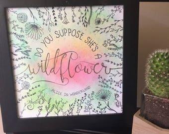 Alice in Wonderland (Wildflower) print