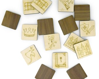 Fantasy Memory Game - Educational Toy - Homeschool - Wood Toy - Matching