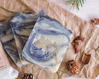 charcoal soap, acne treatment, soap with charcoal, vegan soap bar, cardamom soap, teak wood soap, scented soap bar, mens soap