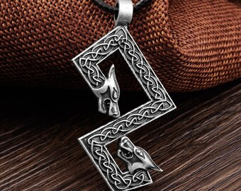 Necklace Amulet Runic Nordic Pendant Talisman Futhark Rune Pendant Rune Yggdrasil Viking