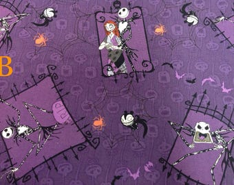 Disney Fabric — New Fabric Added! — Tim Burton's The Nightmare Before Christmas Fabric from Springs Creative (2 Options)