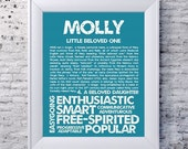 Items similar to MOLLY Personalized Name Print ...