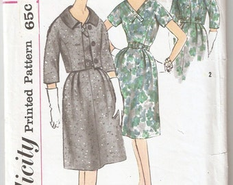 Vintage 1960s Simplicity Pattern 3601 Ladies Dress and Jacket Size 14 Bust 34