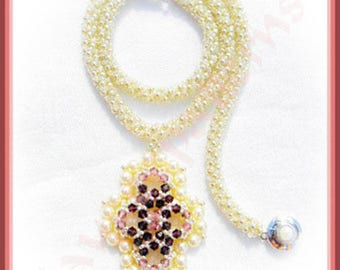 Crystal Cameo necklace PATTERN