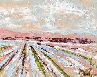 """16x20"""" Abstract Cotton Field"""