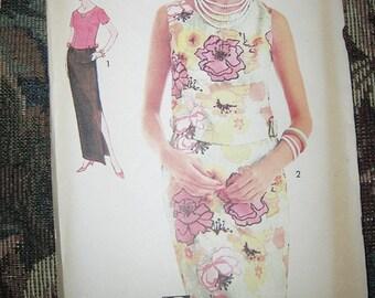 Advance Sew-Easy 2 Piece Dress Pattern, Printed Pattern, Uncut, #3226, Size 14, Vintage Pattern, 1960's 2 Piece Dress