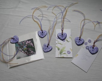 Rustic Air Dry Clay Heart Shape Gift Tags
