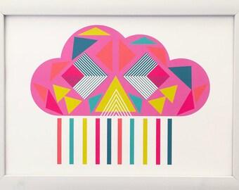 Geo Cloud Pink