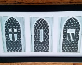 Original Photography Framed (stained glass windows)