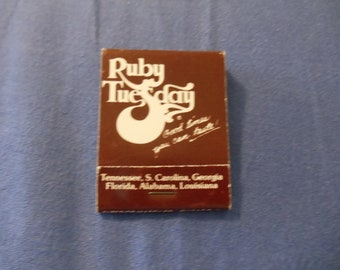 Ruby Tuesday Matchbook (Unused)