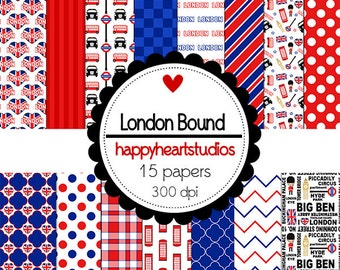 Digital Scrapbooking LondonBound-INSTANT DOWNLOAD