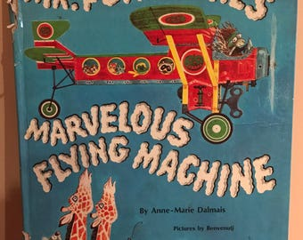 Mr. Porcupine's Marvelous Flying Machine Golden Book 1971 Anne-Marie Dalmais Benvenuti