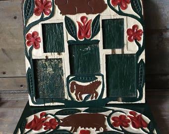 Wonderful Vintage Folk Art Frame