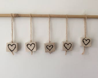 Burnt Heart Hanging.