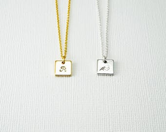 Initial Necklace, Simple Necklace, Delicate Necklace, Initial Necklace, Bridesmaids Necklace, Layering Necklace