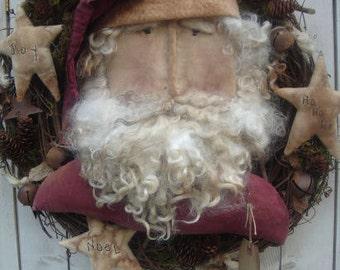 Ol' Santa Wreath E Pattern