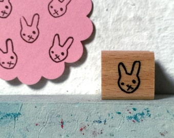 bunny  - mini rubberstamp - 20x20mm