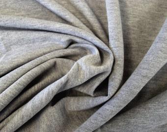 Heather Grey French Terry Spandex Fabric 10 yards RG2