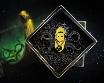 "Wooden brooch ""Hastur"""