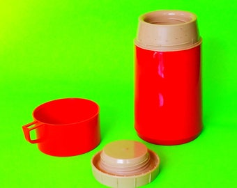 Aladdin Brand Red Lunch Box Thermos Picnic Time Made in Mexico Model Number X4 DIZA Factory