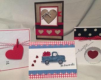 Card making kit etsy be my valentine card making kit makes 4 cards m4hsunfo