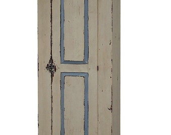 Painted primitive furniture farmhouse cabinet cupboard rustic country distressed antique reproduction kitchen pine chimney