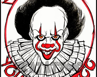 A4 Pennywise The Clown IT Art Print