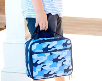 Cool Camo Lunch Kit - Monogram Lunch Bag - Boys Lunch Bag - Back to School - Insulated Lunch Kit - Personalized Lunch Bag - Cooler Tote