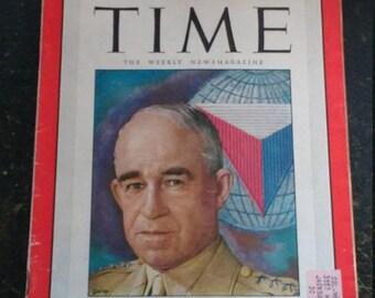 Spring Sale Vintage 1950 Time Magazine General Bradley