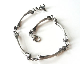 Sterling Silver Bone Bracelet- Cast from real bones