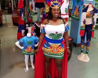 Haitian cape dress