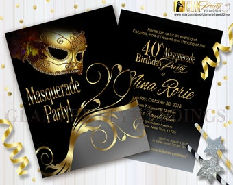 masqurade invitations