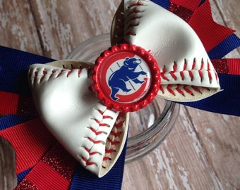 Chicago Cubs Baseball Bow
