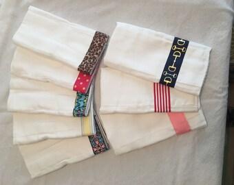 Ribbon Embellished Burp Cloth